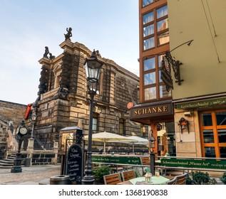 Dresden, Germany - September 18, 2018 - the restaurant 'Kutschenschänke'