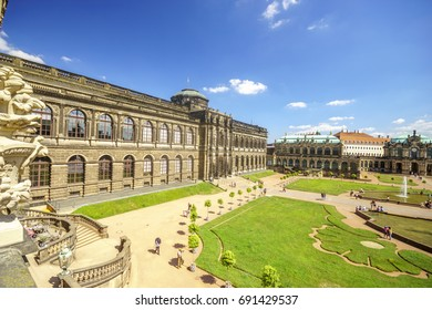 Dresden, Saxrony, Germany-May 2017:Famous Zwinger palace in Dresden, Saxrony, Germany
