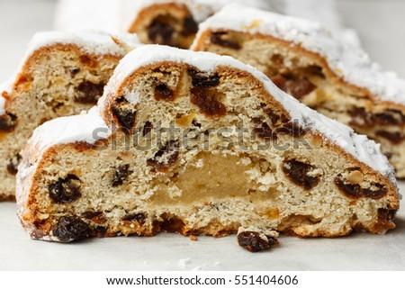 dresden stollen german christmas cake sliced
