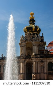 Dresden Zwinger with fountain