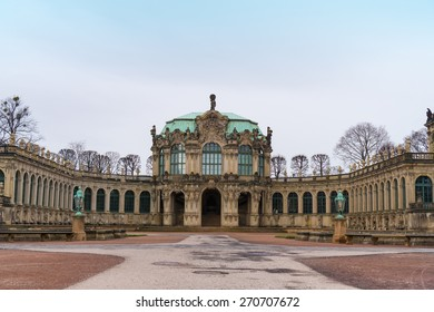 Dresdner Zwinger in Dresden, Germany. A rococo palace designed by Poeppelmann in 1710