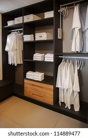 dress closet in bed room