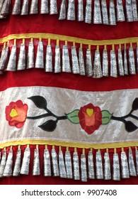 dress of female Native American Indian jingle dancer