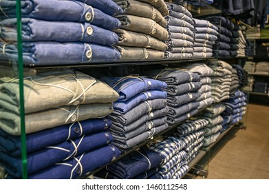 ่japaness dress or polite shirt for men earth tone color fold it Orderly Separated by color best for easy to pick up