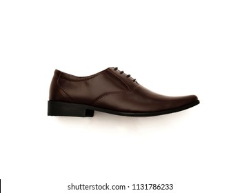 Men's dress shoes isolated on white background.