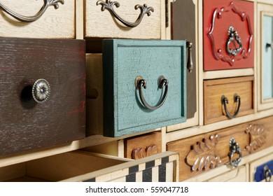 dresser facade with plenty of shelves