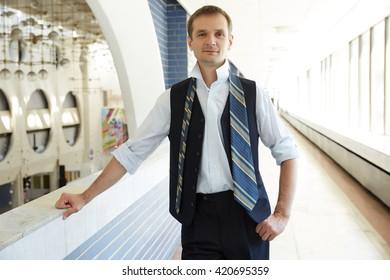 dresses up businessman