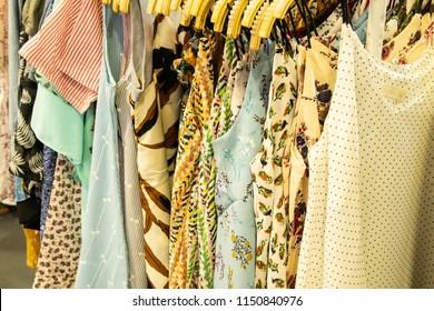 dresses on hanger