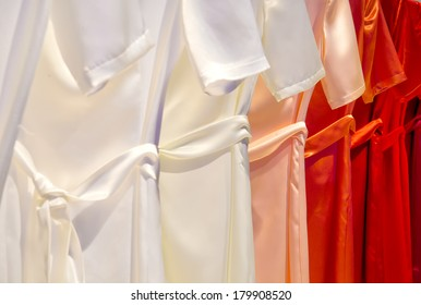 Dresses in a row
