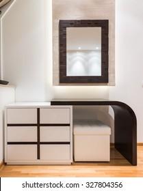 Dressing table in modern bedroom