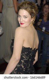 Drew Barrymore, in Oscar de la Renta, at AngloMania Tradition and Transgression in British Fashion Opening Gala, The Metropolitan Museum of Art, New York, May 01, 2006