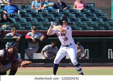 Drew Ferguson  outfielder for the Scottsdale Scorpions at Scottsdale Stadium in Phoenix,AZ/ USA November 2,2018.