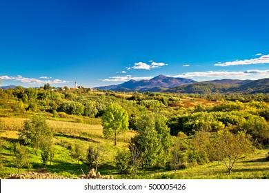 Drezbik Grad near Plitvice green landscape, Karlovacka region of Croatia