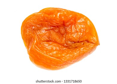 Dried apricot dried apricots, close-up on a white background.