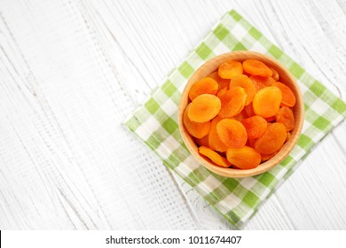 Dried apricots The concept is healthy food, vegetarianism, diet, vitamins.