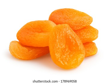 dried apricots isolated