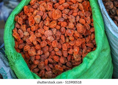 Dried apricots solf at a market in Kargil, Jammu and Kashmir