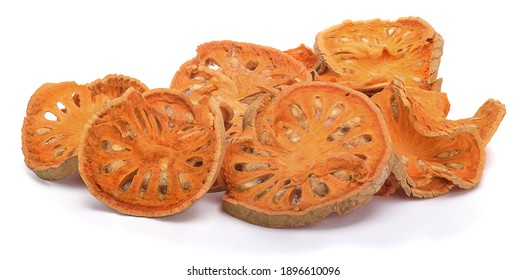 dried bale fruit on white background