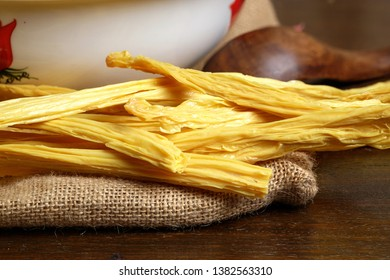 Dried bean curd stick - famous Chinese cuisine ingredients