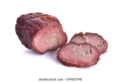 Dried beef on a white background