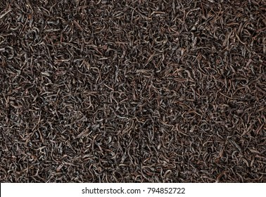 Dried black tea background