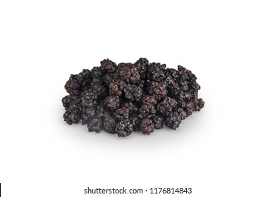 dried blackberry isolated