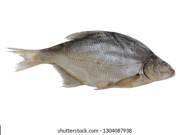 dried bream isolated on white background