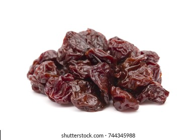 Dried Cherries on a White Background