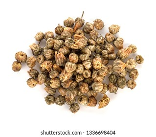Dried chrysanthemum flower isolated on white background