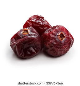 Dried cranberries isolated on white. Studio shoot, retouched, infinite depth of field