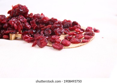 Dried Cranberry with white background
