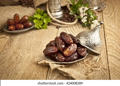 Dried date palm fruits or kurma, ramadan ( ramazan ) food