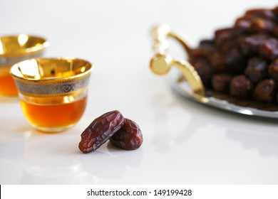 Dried dates and Arabic tea are a prominent feature of the hospitality to be expected in Arabia