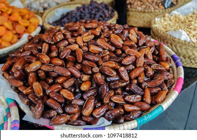 Dried dates are selling at the fair