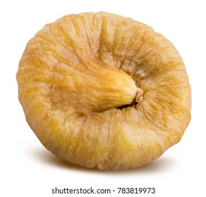 dried fig isolated on white background with clipping path