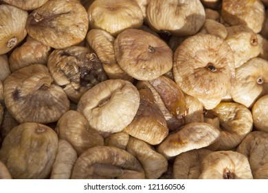 Dried figs as background in open market