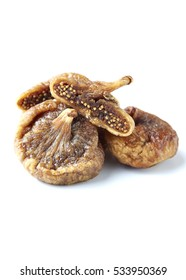 Dried figs isolated on a white background