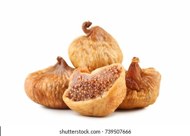 Dried figs isolated on white background