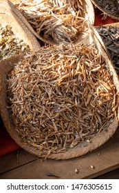 dried fish in a market