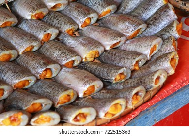 dried fish with the spawn