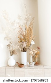 dried floral arrangements interior decoration in vases