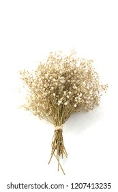 dried flower bouquet isolated on white background
