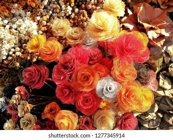 Dried flowers of Brazilian cerrado for decoration.