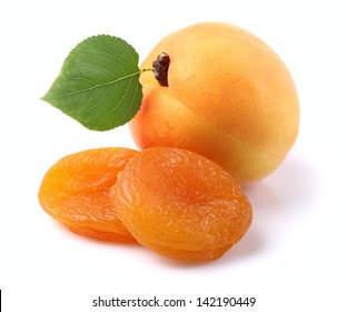 Dried and fresh apricots
