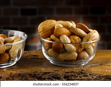 dried fruit, nuts, hazelnuts and almonds