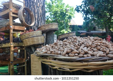 dried fruit on the village