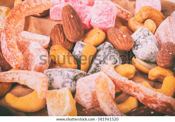 Dried fruits and coffee