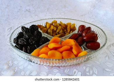 Dried fruits, mix - symbols of the Jewish holiday Tu Bishvat. Dried fruits of Israel