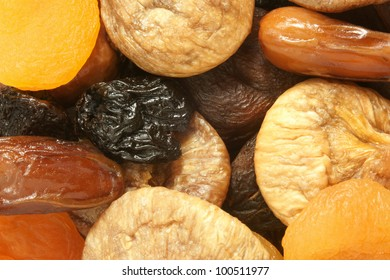 Dried fruits mixed, for backgrounds or textures