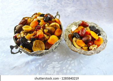 Dried fruits and nuts - symbols of the Jewish holiday Tu Bishvat, Israel
